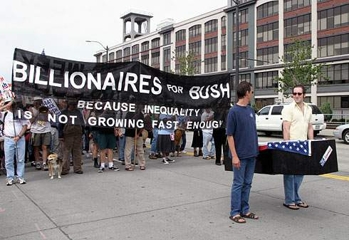Billionaires for Bush protest